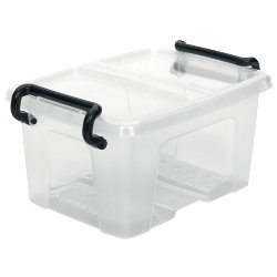 Strata Smart Storemaster Mini Plastic Storage Box 0.4 Litre Clear with clear lid