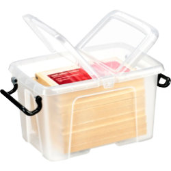 Strata Smart Storemaster Mini Plastic Storage Box 1.7 Litre Clear with clear lid