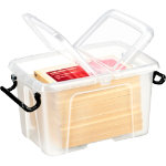 Strata Smart Storemaster Mini Plastic Storage Box 17 Litre Clear with clear lid