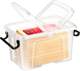 Strata Smart Master Mini Plastic Storage Box 17 Litre Clear With Lid By Viking
