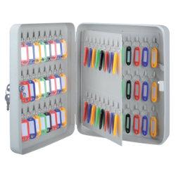 Office Depot 80 Hook Key Cabinet Grey