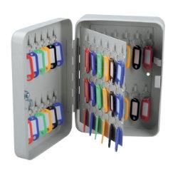 Office Depot 60 Hook Key Cabinet Grey