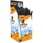 Bic Cristal Soft Ballpoint Black Box of 50