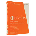 Microsoft Office 365 Home Premium 32 bit X64 English 1 year Eurozone subscription medialess