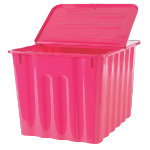 Niceday Plastic Storage Box 75 Litre Pink with pink lid