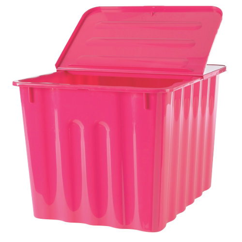 niceday plastic storage box 75 litre pink with pink lid ebay. Black Bedroom Furniture Sets. Home Design Ideas