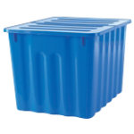 Niceday Plastic Storage Box 75 Litre Blue with blue lid