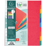 Europa Pressboard Dividers Coloured A4 Extra Wide 10 Part Blank Set