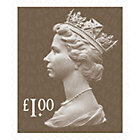 Royal Mail UK One Pound Postage Stamps 25 Pack