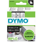 Dymo Labels Black Printed On Clear 9mm