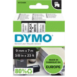 DYMO Labelling Tape 40913 9 mm x 7 m Black White