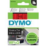 Dymo D1 Labels Black On Red 9mm x 7m