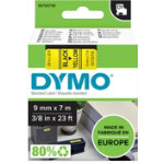Dymo D1 Labels Black On Yellow 9mm x 7m