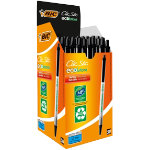 Bic Ecolutions Retractable Ballpoint Pen Black Pack of 50