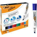 BIC Whiteboard Marker Velleda 1781 Chisel 55 mm Assorted Pack 6