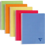 Clairefontaine Spiral bound notebook Linicolor Classic assorted colors Small squares 5x5 A5