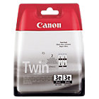 Canon BCI3EBK Black Printer Ink Cartridge Twin Pack