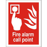Semi rigid FIRE ALARM CALL POINT PVC sign 200 x 125mm