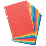 Europa Pressboard Dividers Coloured A4 10 Part Blank Set