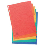 Europa Pressboard Dividers Coloured A4 5 Part Blank Set