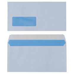 Universe Sun Peel And Seal Window Envelopes 90gsm White DL 110 x 220 mm 500 Per Box