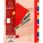 Exacompta Index Tab 90E A4 Assorted Polypropylene
