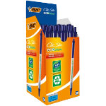 Bic Ecolution Ballpoint Pen Retractable Blue Pack of 50
