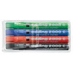 edding 2000C Permanent Marker with Bullet Tip Assorted Pack of 4