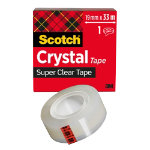 Scotch Tape Crystal Clear 600 Transparent 19 mm x 33 m