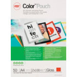 GBC Colourtm Pouch Red A4 216 x 303mm 2 x 100 Microns