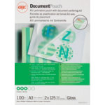 GBC Document Pouches 250 2 x 125 Microns A3 303 x 426mm 100pk