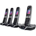 BT Telephone BT8600 Quad Silver Black