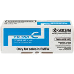 Kyocera TK 550C Original Cyan Toner Cartridge