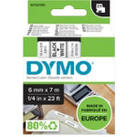 DYMO D1 Labels 43613 6 mm x 7 m White Black