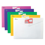 Snopake Document Wallets 12565 A4 Assorted Polypropylene 24 x 335 cm