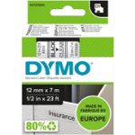 Dymo D1 Labels Black On Clear 12mm x 7m