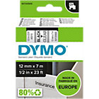 DYMO D1 Labels 45010 12 mm x 7 m Black Transparent