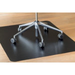 clear style Chair Mat Hard Black 1200 x 900 mm