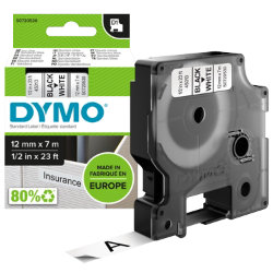 Dymo D1 Labels Black On White 12mm x 7m
