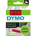 Dymo D1 Labels Black On Red 12mm x 7m