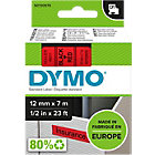 DYMO D1 Labels 45017 12 x 7000 mm Red Black