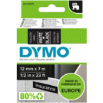 Dymo D1 Labels White On Black 12mm x 7m