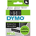 DYMO D1 Labels 45021 12 x 7000 mm White Black