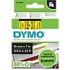 Dymo D1 Labels Black On Yellow 19mm x 7m