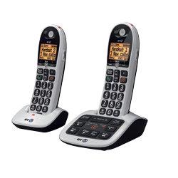 BT Cordless Phone BT4600 Advanced Nuisance Call Blocker  Twin Black & Grey