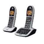 BT Cordless Phone BT4600 Advanced Nuisance Call Blocker Twin Black Grey