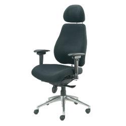 Realspace A072A2B2STG HRUKFR Ergonomic Posture Chair Black