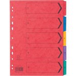Europa Pressboard Dividers Coloured A4 5 Part 1 5 Numbered Set