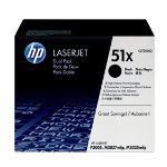 HP No51X Hi Yield Black Toner Cartridge Twin Pack Q7551XD