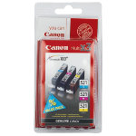 Canon CLI 521 C M Y Original Cyan Magenta Yellow Ink Cartridge